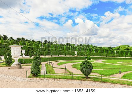 Versailles, France - July 02, 2016 : Beautiful Garden In A Famous Palace Of Versailles (chateau De V