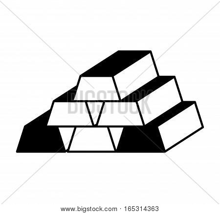 gold bullion isolated icon vector illustration design