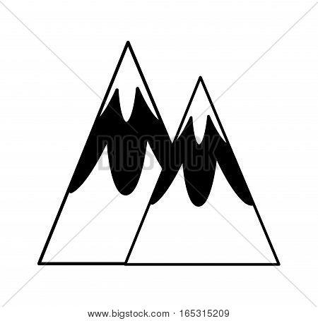 mountain silhouette isolated icon vector illustration design