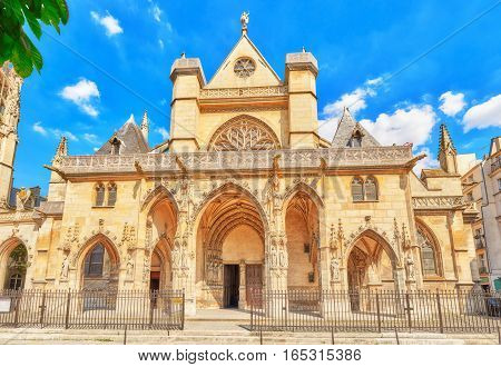 Saint-germain L'auxerrois Church  Is Situated Near Louvre. It's Construction In Roman, Gothic And Re