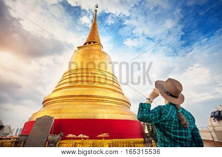 Big Golden Temple In Bangkok