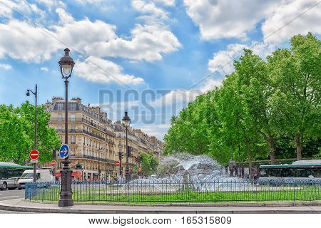 Paris, France - July 08, 2016 : Fontaine Rostand Near Luxembourg Palase And Park In Paris, France.