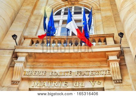 The Inscription, Motto Of The French Revolution And The National Motto Of France: Liberte, Fgalite,