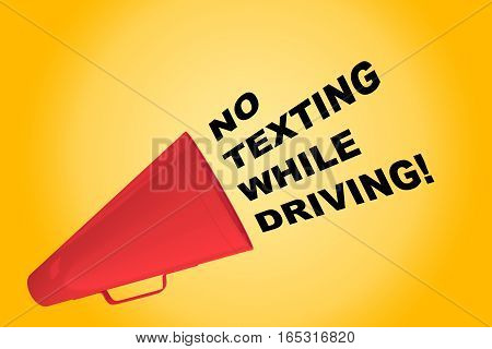 No Texting While Driving! Concept