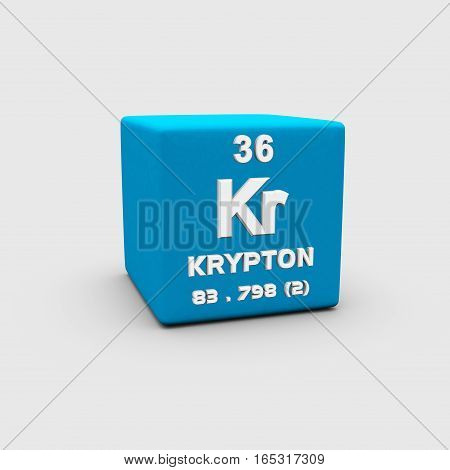 Krypton is a chemical element with symbol Kr and atomic number 36.
