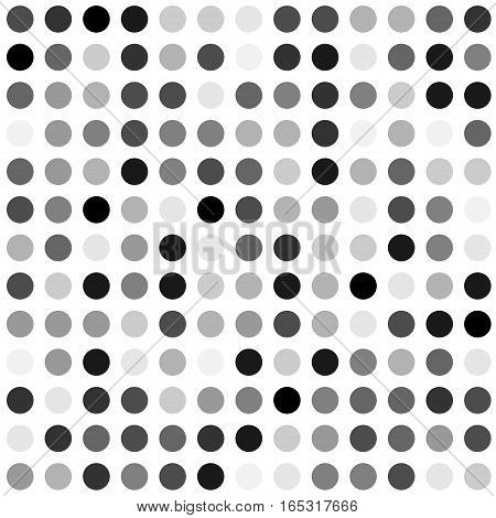 black and white halftone circle background. Stock vector illustration