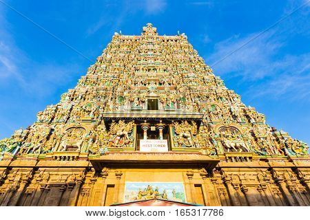 Madurai Meenakshi Amman Temple West Tower Centered