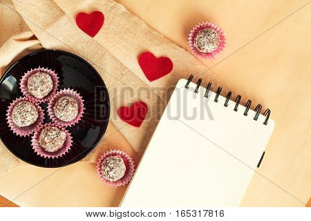 Preparations For Valentine's Day