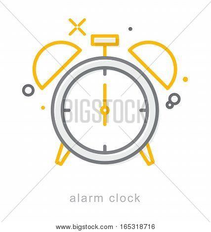 Thin line icons, Linear symbols, alarm clock