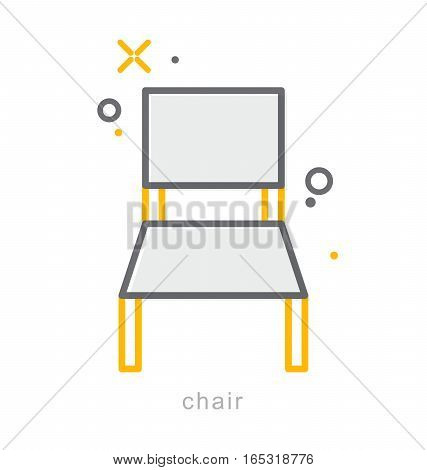 Thin line icons, Linear symbols, Chair icon