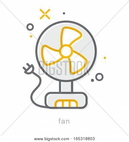 Thin line icons, Linear symbols, Fan icon