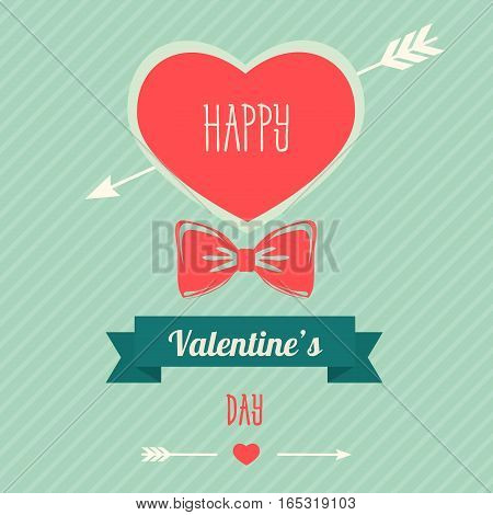 Happy valentines day design. Valentine's Day poster