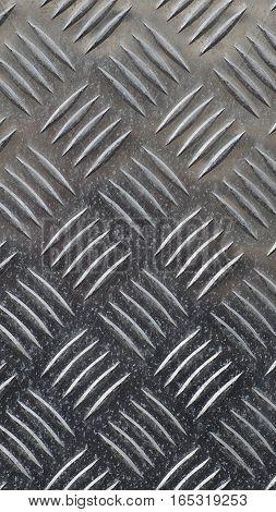 Grey Steel Diamond Plate Background - Vertical