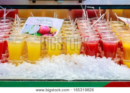 Fresh Juice On Display