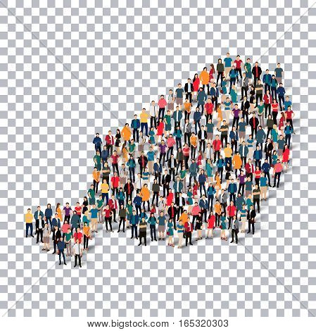 Isometric set of styles, people, map of Niger , country, web infographics concept of crowded space, flat 3d. Crowd point group forming a predetermined shape. Creative people. Vector illustration. Photo vector.3D illustration. Transparent background .