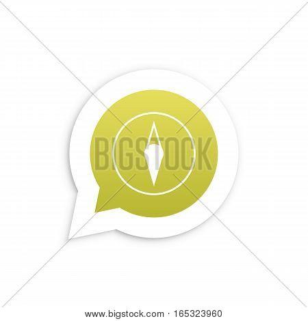 Compas in speech bubble icon Vector illustration