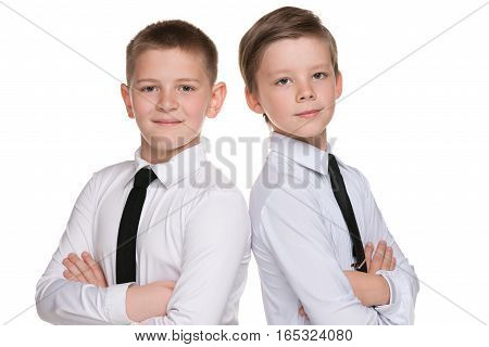 Two Fashion Handsome Young Boys
