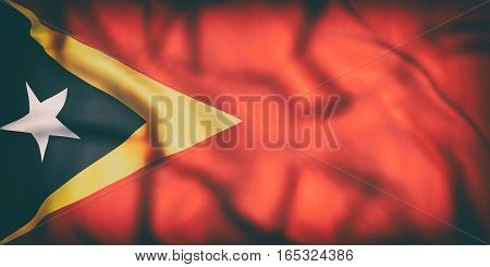 Democratic Republic Of Timor-leste Flag Waving