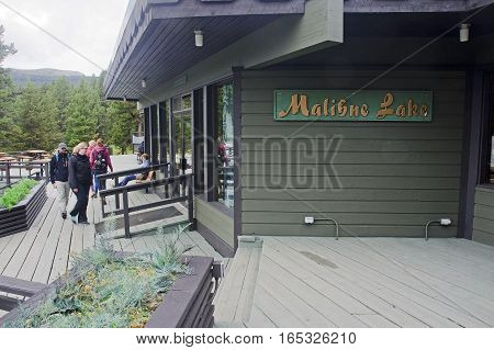 Jasper, Canada - September 9, 2016: Maligne Lake, Jasper Nationa