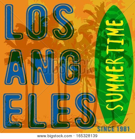 Summer tropical poster los angeles fashion style