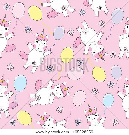 birthday, unicorn, happy, background, party, type, card, design, vector, illustration, cute, white, baby, invitation, pink, girl, kid, horse, art, pattern, postcard, animal, cartoon, text, lovely, isolated, nature, symbol, fun, sign, love, sweet, greeting