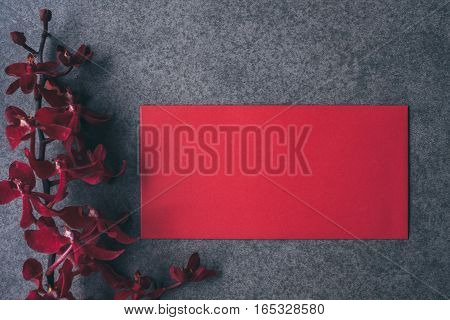 Top view accessories Chinese new year festival decorations.red packet