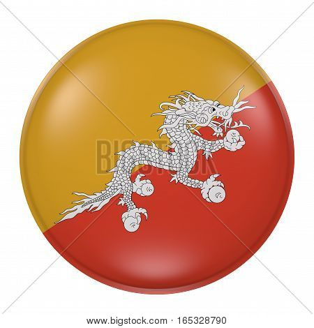 Silhouette Of Kingdom Of Bhutan Button