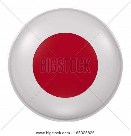 Silhouette Of Japan Button