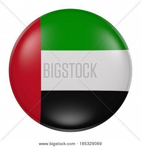 Silhouette Of United Arab Emirates Button