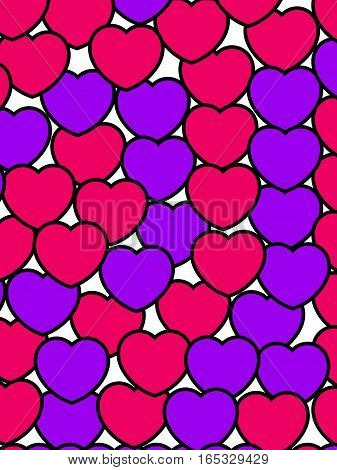 Hearts Backgrounds For Saint Valentine Day, High Definition Backdrop