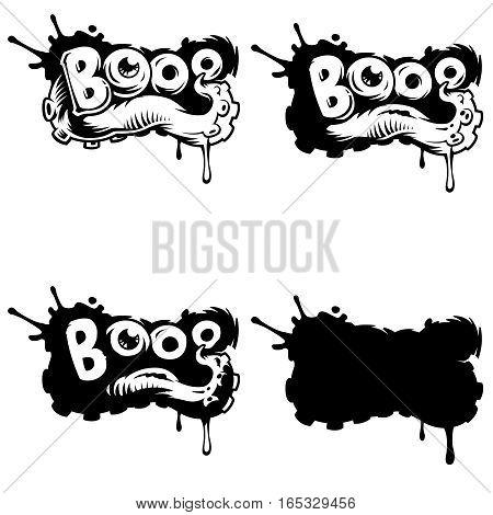 Vector comics icon. Explosion bubbles. Comic book explosion element