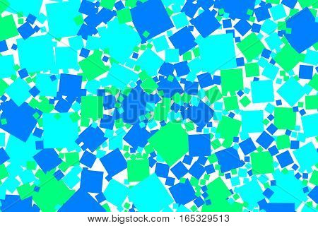 Abstract Background With Flat Squares. Pattern For Motivation Concept.