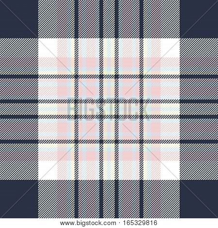 Check fabric texture seamless pattern. Vector illustration.