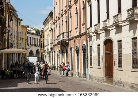 PADUA ITALY - MAY 3 2016: The historic city center of Mantua. Italy