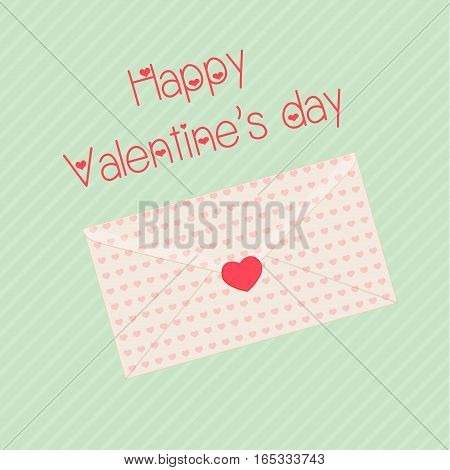 Happy valentines day design template envelope. Valentine's Day poster