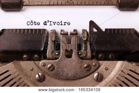 Old Typewriter - Ivory Coast