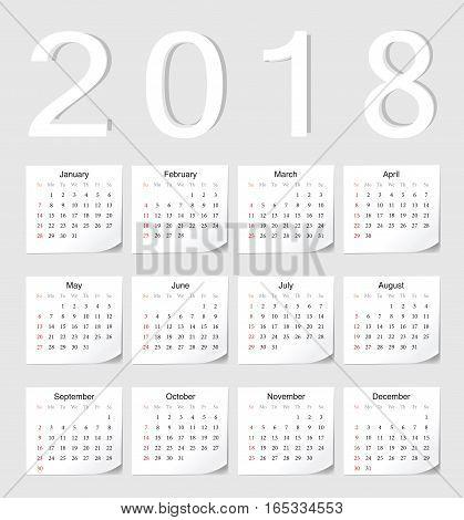 European 2018 Calendar