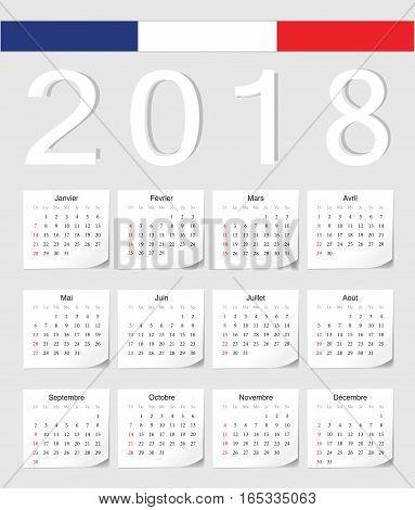 French 2018 Calendar