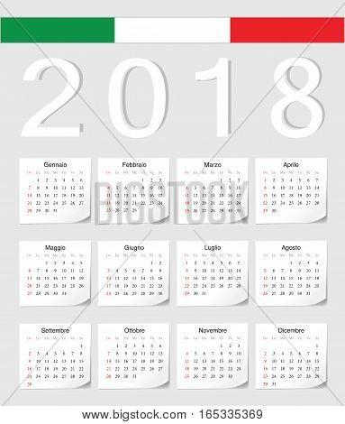Italian 2018 Calendar
