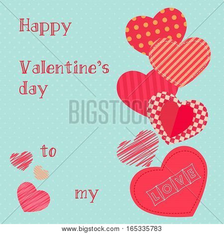Happy valentines day design template. Valentine's Day poster
