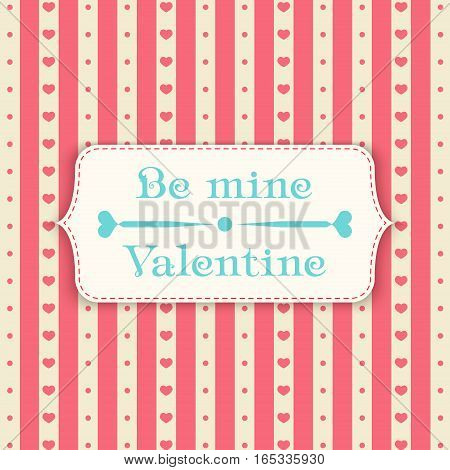 Happy valentines day design template pattern. Valentine's Day poster