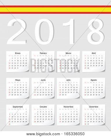 Spanish 2018 Calendar