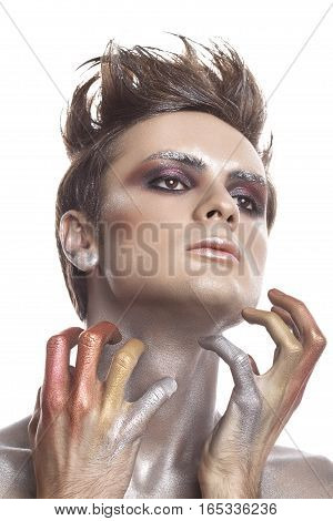 Guy With Extreme On Stage Make Up