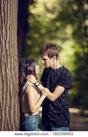 Boyfriend And Girlfriend In The Park