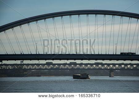 Bridges over the Danube river in Bratislava city