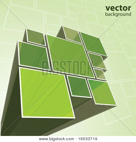 Abstracte transparante groene achtergrond vector