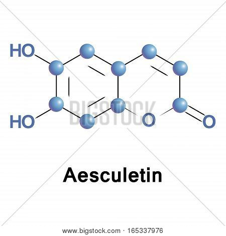 Aesculetin is a derivative of coumarin. It is a natural lactone that derives from the intramolecular cyclization of a cinnamic acid derivative.
