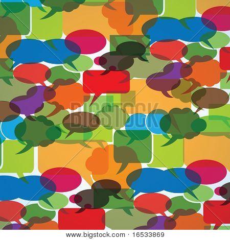 Speech Bubble Background Vector