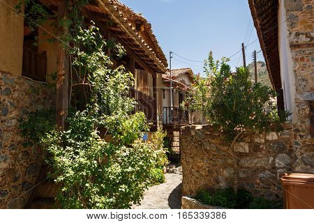 Old houses in Kakopetria village in Cyprus.
