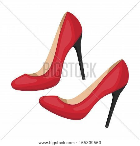 Shoes with stiletto heel icon in cartoon desgn isolated on white background. France country symbol stock vector illustration.